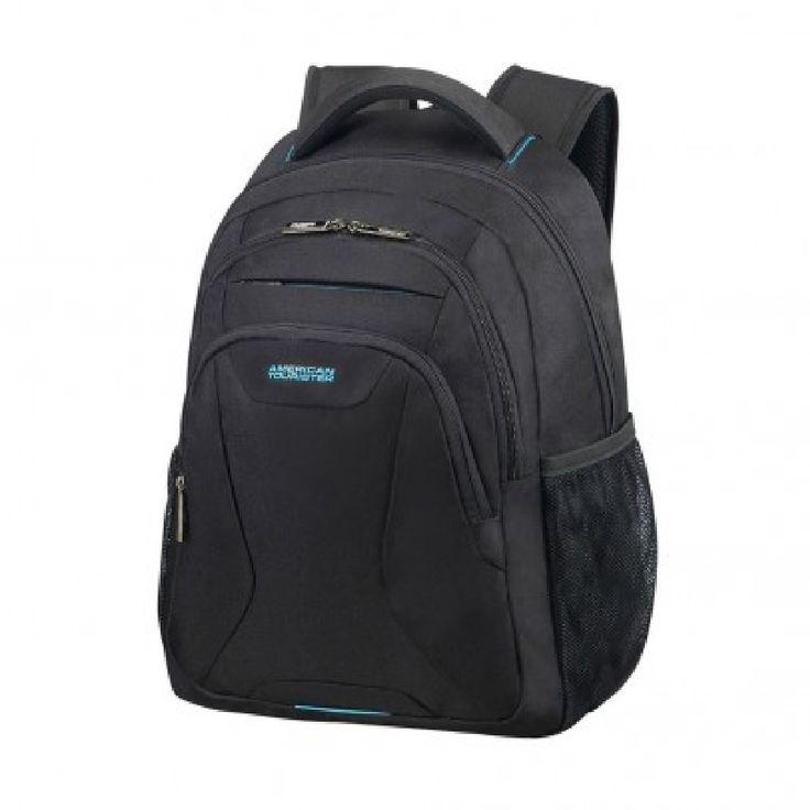 """American Tourister AT Work laptop backpack 15.6""""black rugtas  Description: De American Tourister At Work is een ideale rugtas om al je spullen in mee te nemen. De tas heeft een strakke look met sportieve details waarmee je goed voor de dag kunt komen. Ook over de inrichting van de tas is goed nagedacht zo is er plek voor al je (electronische)spullen. Zo beschikt de tas over een 101""""tabletvak en een 156""""laptopvak. Tevens is deze tas door middel van de smartsleeve makkelijk aan de trekstang…"""