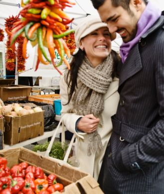 Date Night: FARMER'S MARKET: Pick up some quality organic ingredients and test