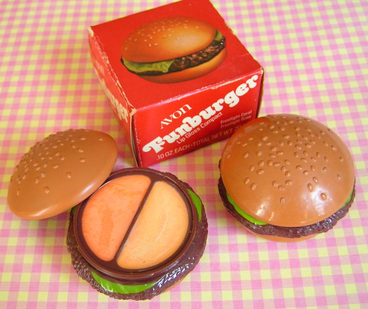 "Packaging At Avon Was Innovative And Fun! I Gave These ""Burgers"" As Christmas Gifts To All Female Teachers And Friends One Year!"