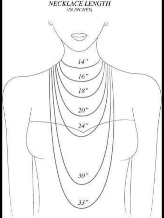For chunky bead necklaces