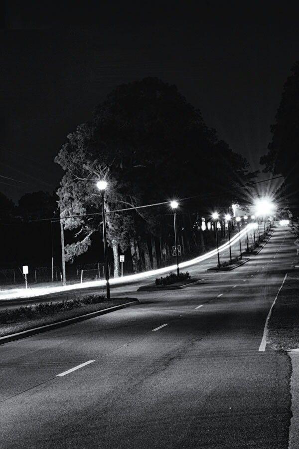 Black & White light trails