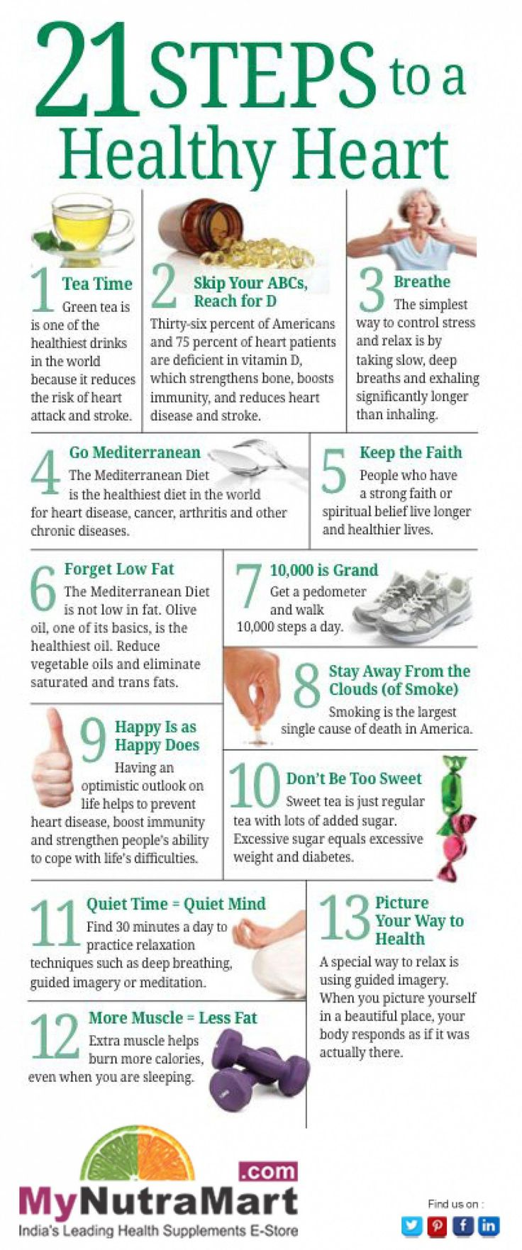 21 Steps To A Healthy Heart  Dailyhearthealthyfoods