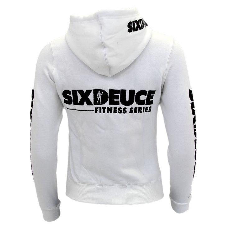 PHATFIGURES - SIX DEUCE WHITE HOODED SWEATSHIRT, £45.50 (http://www.phatfigures.co.uk/six-deuce-white-hooded-sweatshirt/)