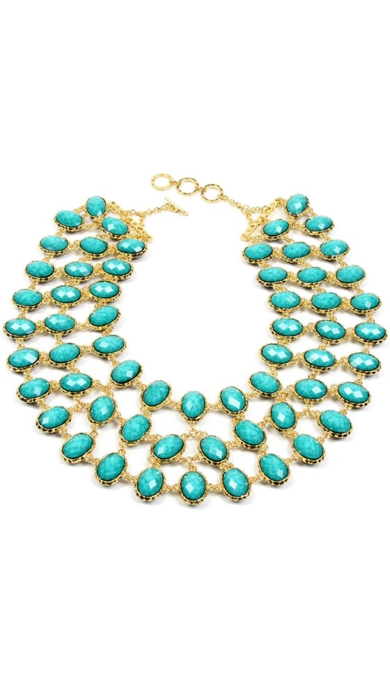 Hampton Reversible Bib Necklace by Amrita Singh. Genius and beautiful. Two 'statement'