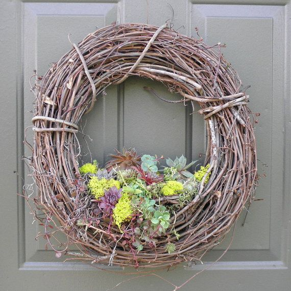 Another take on the succulent wreath