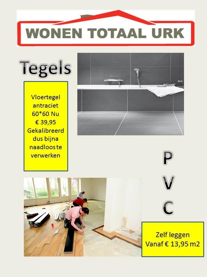 Speciale aanbieding: Vloertegels antraciet 60x60, nu €39,95. Wonentotaal is een concept waar alles in en om het huis gedaan kan worden vanuit een aanspreekpunt. Keukens, Badkamers, Tegels, Vloeren, Raamdecoratie. Wonen Totaal #Urk www.wonentotaal.com