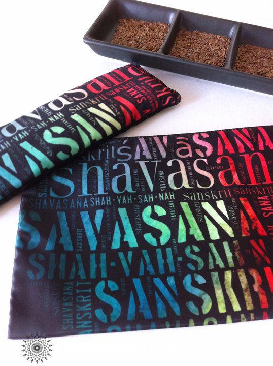 Combo Savasana Shavasana Flax Eye Pillow Pouch by TheBeautifulLife
