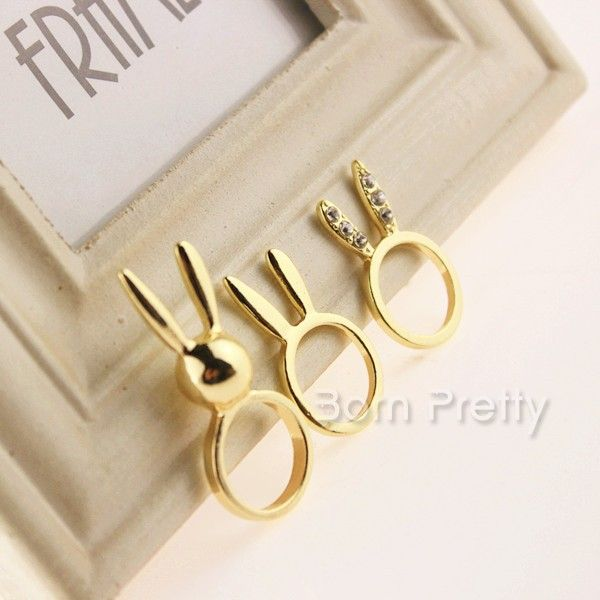I find an excellent product on @BornPrettyStore, 3Pcs/set Cute Rabbit Shaped Ring Sleek Ring G... at $1.69. http://www.bornprettystore.com/-p-14642.html