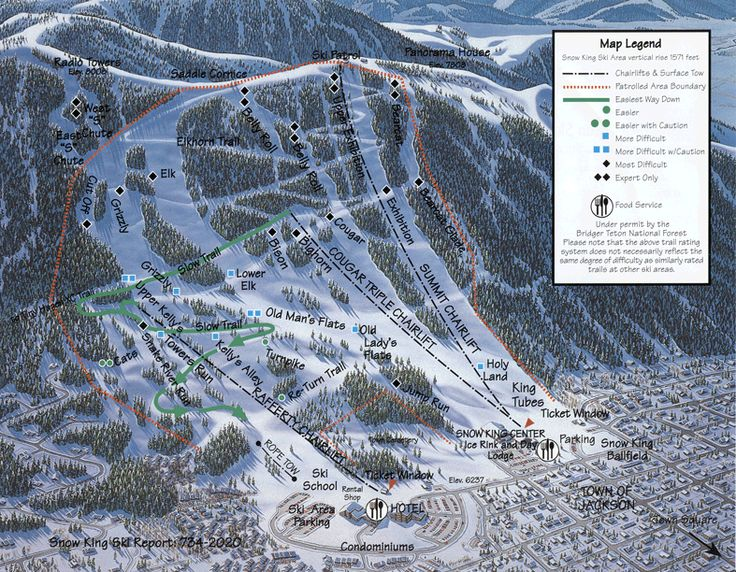 snow king resort jackson hole in jackson wy is the in town mountain and