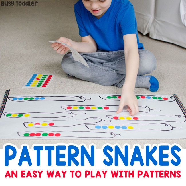 Need A Preschool Patterns Activity Try Making Pattern Snakes A Quick And Easy Presch Preschool Pattern Activities Preschool Patterns Zoo Activities Preschool Pattern activities for preschoolers