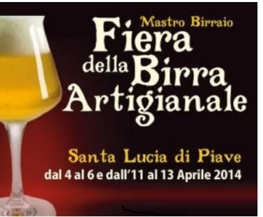 Fiera della Birra Artigianale -  Beer Fest,  April 4-6, and April 11-13, 5 p.m. to 2 a.m.; April 6 and April 13, 11 a.m. to midnight; in Santa Lucia di Piave (Treviso), Via Mareno,  about 78 miles northeast of Vicenza;  exhibit and sale of twenty  breweries each weekend; food booths feature many specialties; workshops and sampling sessions; live concerts; free parking; admission fee: €3.
