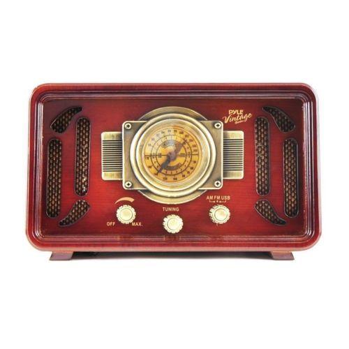 Vintage-Wooden-Radio-Retro-Style-Antique-USB-SD-Readers-Bluetooth-Radio-System