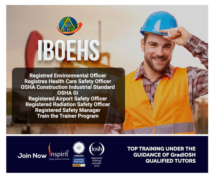 Iboehs train the trainer safety courses health and safety