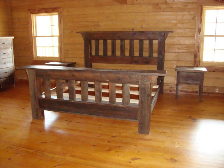 Rustic Bedroom Furniture | of handcrafted barn wood furniture is brought to life in this rustic ...
