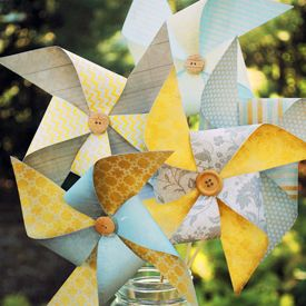 Make your own whimsical bouquet of pinwheels!