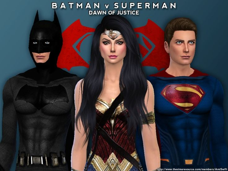 Become your favorite superhero with costumes inspired by the film Batman v Superman: Dawn of Justice  Found in TSR Category 'Sims 4 Male Clothing sets'