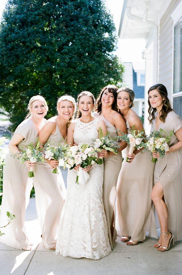3ad1c00302f Tan bridesmaid dresses  wedding  weddings  weddingideas  engaged   aislesociety  vintagewedding