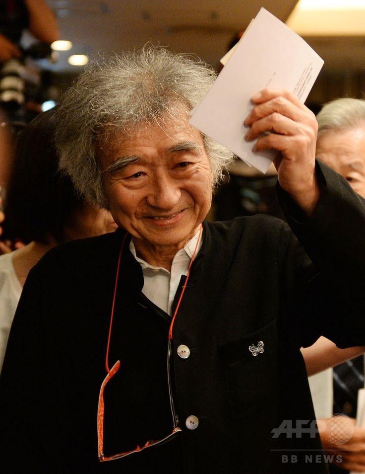 都内(Tokyo)の日本外国特派員協会(FCCJ)で音楽祭「サイトウ・キネン・フェスティバル松本(Saito Kinen Festival)」から「セイジ・オザワ 松本フェスティバル(Seiji Ozawa Matsumoto Festival)」への改称について記者会見した指揮者の小澤征爾(Seiji Ozawa)さん(2014年8月4日撮影)。(c)AFP/TOSHIFUMI KITAMURA ▼5Aug2014AFP 「サイトウ・キネン」から小澤征爾氏の名へ、松本の音楽祭 http://www.afpbb.com/articles/-/3022271 #Seiji_Ozawa