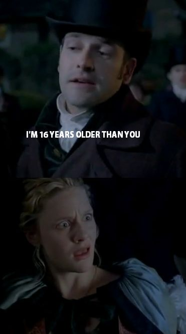 Emma humor.  It is pretty weird to think how much longer older he is than her.