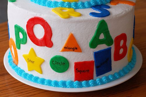 Back to school birthday cake! Get the little ones excited about going back to school.