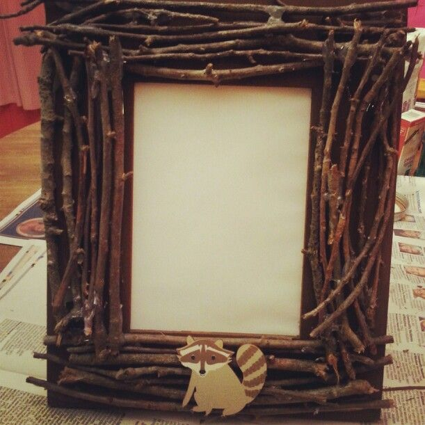Raccoon diy picture frame