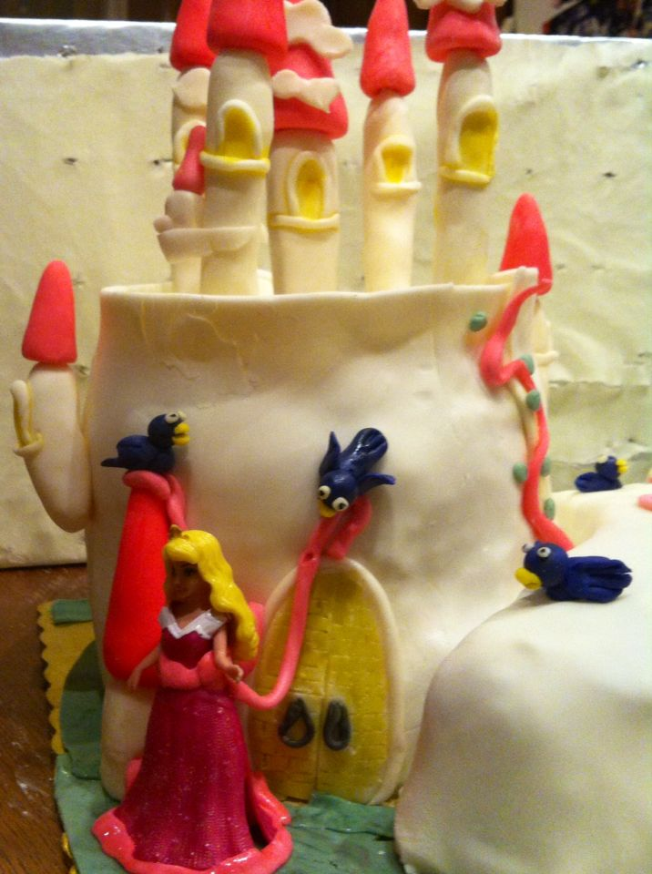 A close up to princess cake