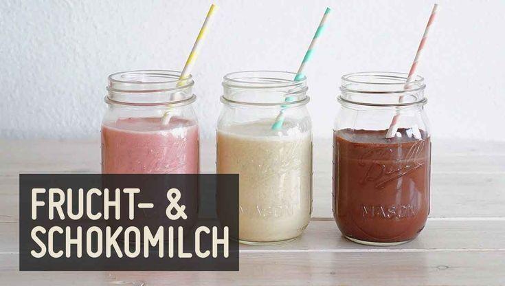 Wir bringen ✚✚Abwechslung✚✚ in dein Paleo Getränke Repertoire: Mandelmilch selber machen mit Geschmack - ➤ Schokomilch, ➤ Bananenmilch & ➤ Erdbeermilch.