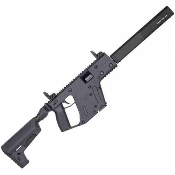"KRISS Vector CRB Enhanced Gen II Semi Auto Rifle 9mm 16"" Shrouded Barrel 17 Rounds M4 Stock Combat Grey //"