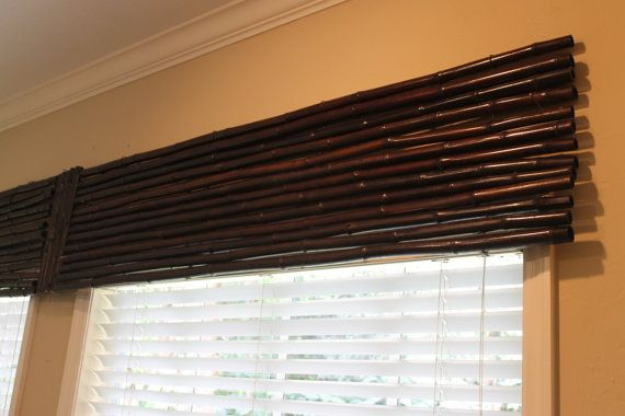 Oh Gosh I Want This For The Kitchen Large Bamboo Valance