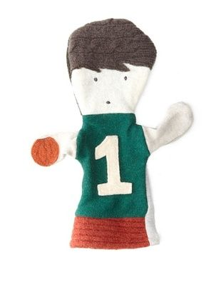 28% OFF Cate and Levi Unisex Basketball People Puppet , Green/Red