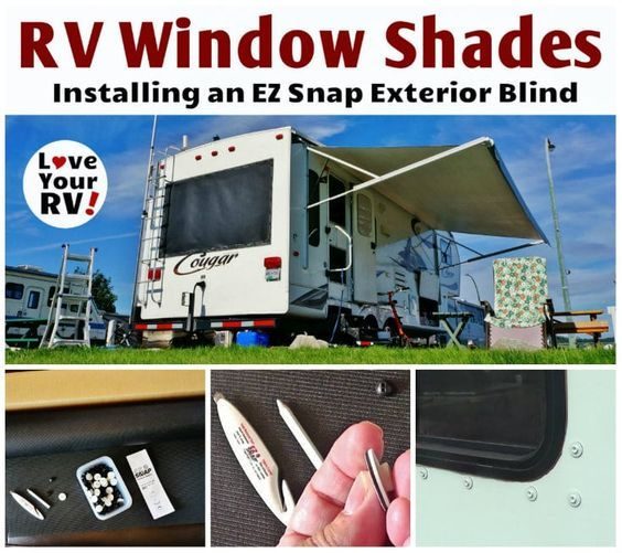 EZ Snap Exterior RV Window Shade Installation blog pot and video by the Love Your RV blog - http://www.loveyourrv.com/ez-snap-rv-window-shades/