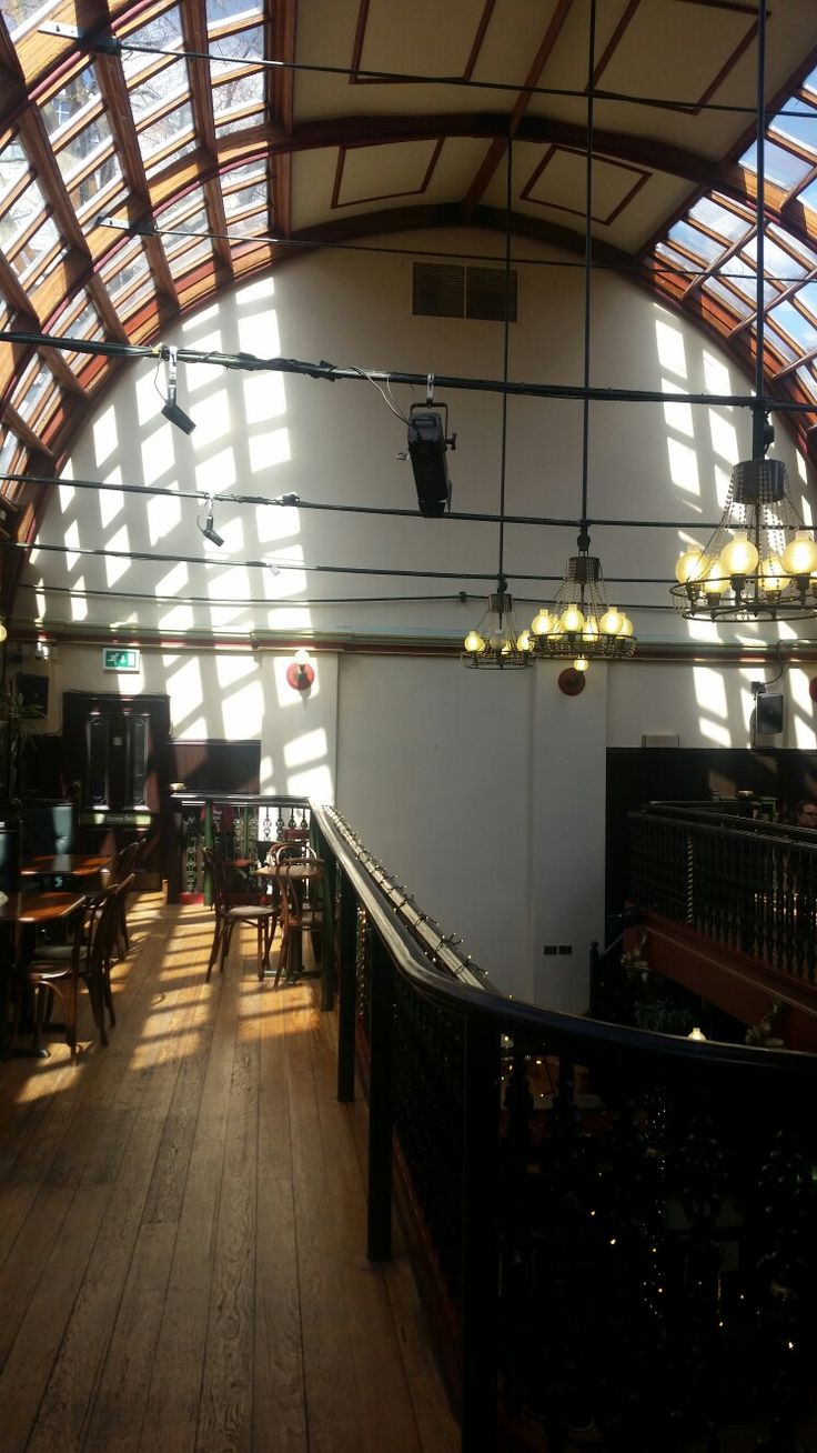 Beautiful sunlight at Malt Cross mysic hall in Nottingham