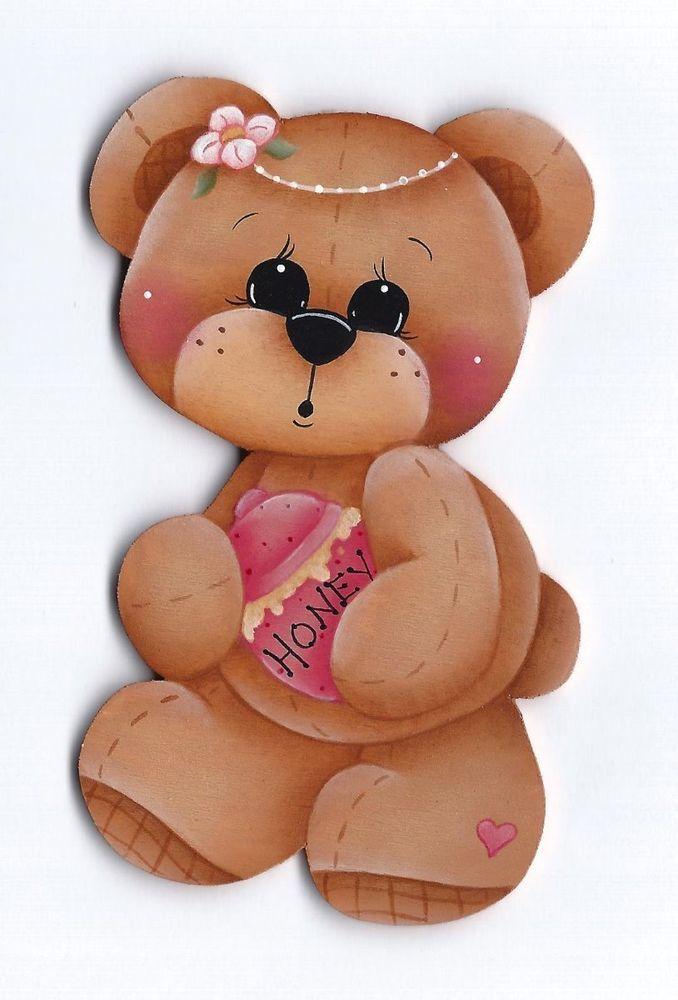 TEDDY BEAR WITH HONEY POT