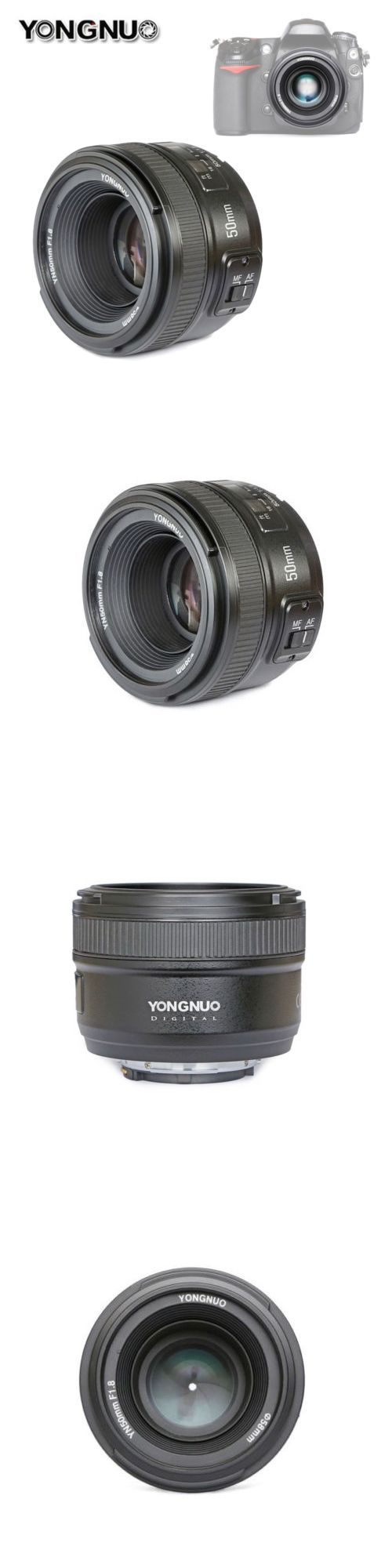 Camera Photo: Yongnuo Yn50mm F 1.8 Large Aperture Mf Af Auto Focus Prime Lens For Nikon Dslr -> BUY IT NOW ONLY: $69.5 on eBay!