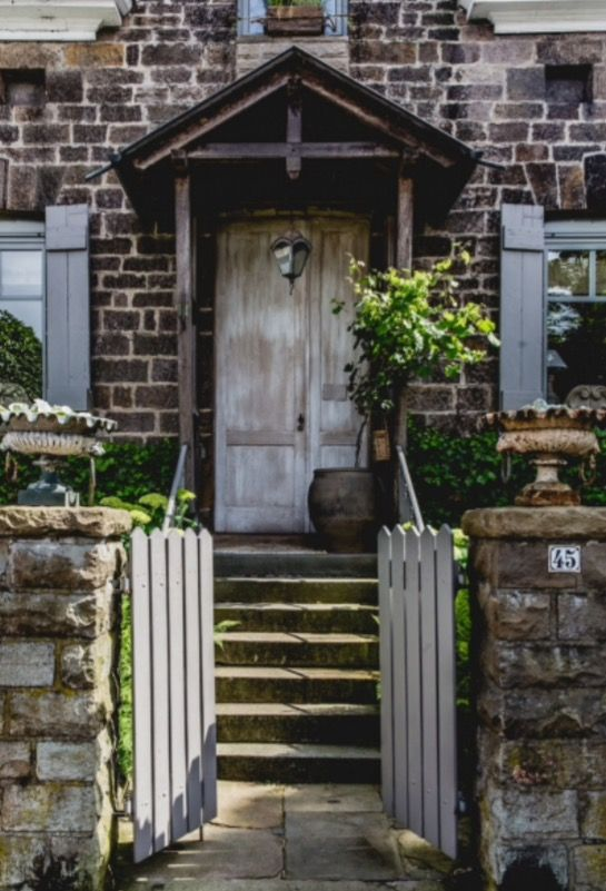 """This rustic front door is from our feature """"Renovation Rescue"""""""