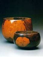 Ko' oho and Palewa traditional bowls from Hawaii.