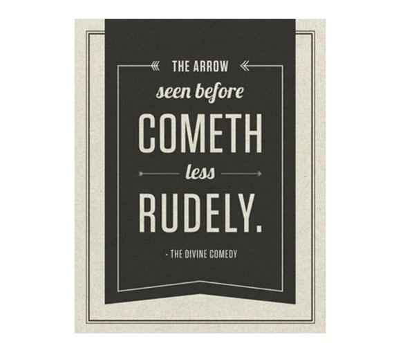 Divine Comedy Quotes: Divine Comedy Art Print