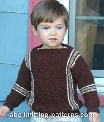 d0e1355cfc465 Easy Child s Garter Stitch Cuff-to-Cuff Sweater