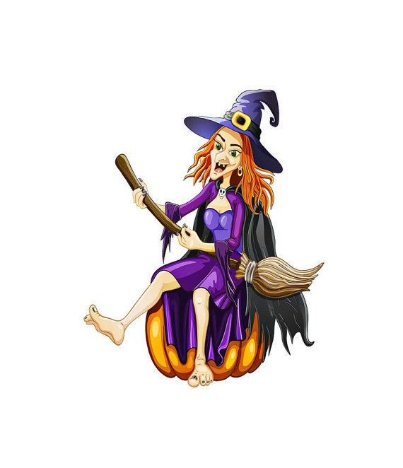 Hillbilly Halloween Witch Image, Wicked Purple Witch Image,Large Witch…