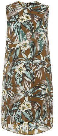 Dorothy Perkins Khaki tropical shift dress