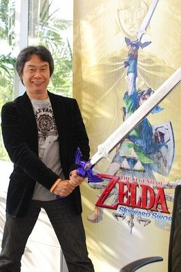 Skyward Sword is awesome! This man is my hero! Love you Shigeru Miyamoto!