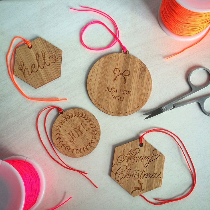 New bamboo laser cut tags