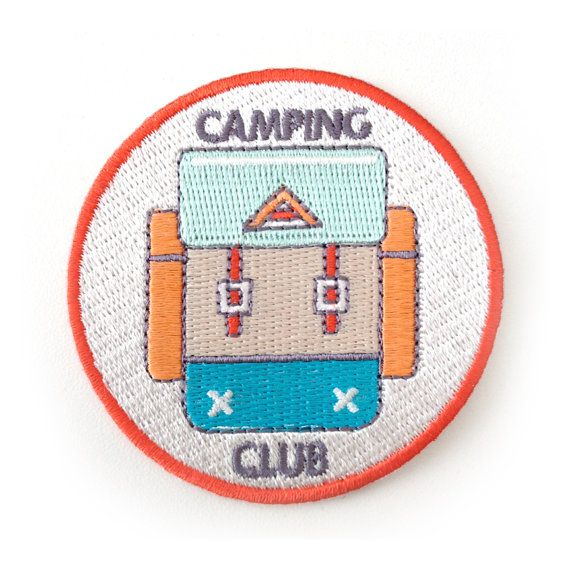 Camping Club Iron On Patch by ZipperTeethShop on Etsy, $5.00