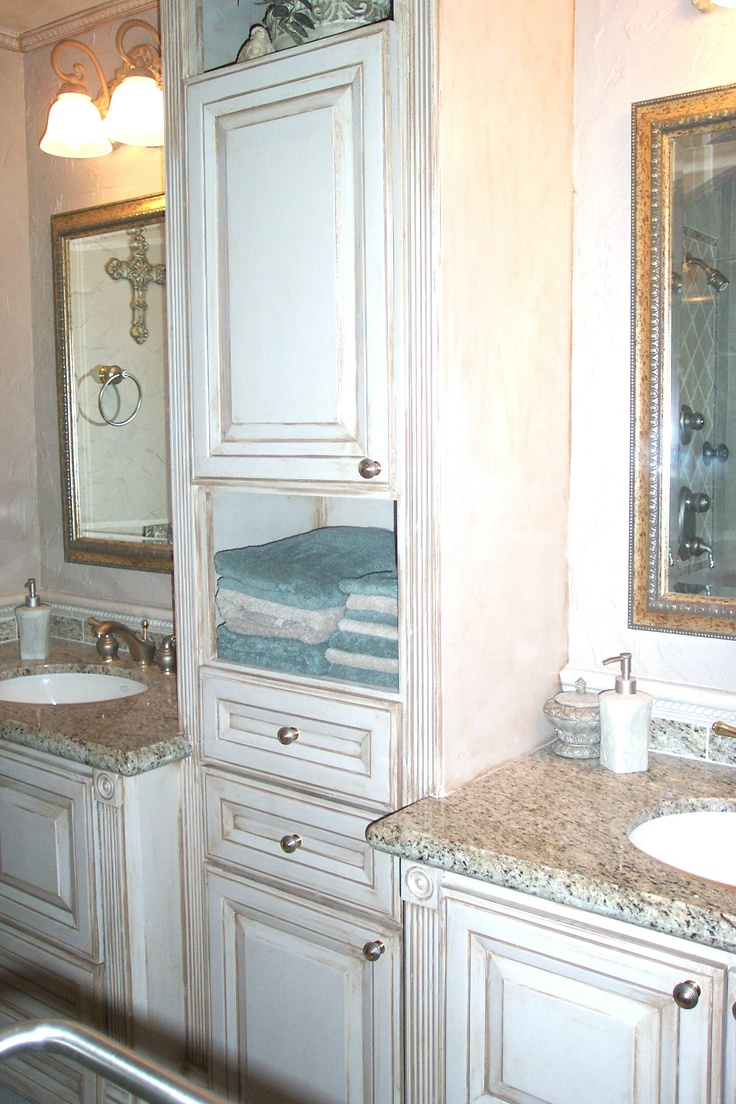 Photo Album For Website Custom built bathroom cabinets with linen cabinet and pull out trash can etc glazed
