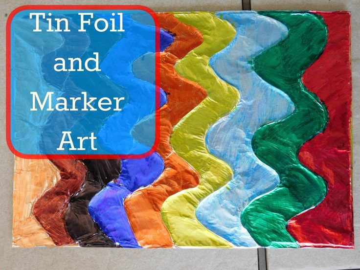 Our Unschooling Journey Through Life: Art Project #28- Tin Foil Art