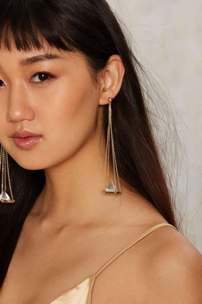 Pyramid Song Drop Earrings - Accessories   Earrings