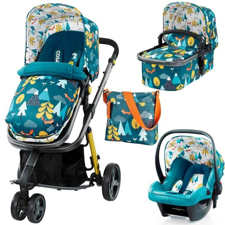 Cosatto Giggle 2 Hold 3in1 Travel System with Car Seat -Fox Tale (New) !FREE Car seat Worth £145!
