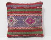 purple pillow cover purple cushion cover purple pillow case purple throw pillow floor throw pillow case pink purple kilim pillow sham 16801