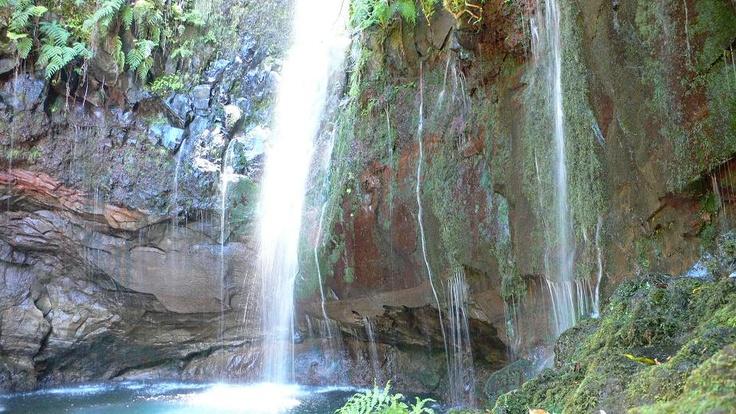 Levada's waterfals, Madeira island, Portugal