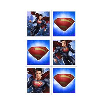 Superman Stickers (includes 4 sheets,with 6 different stickers, in a pack)